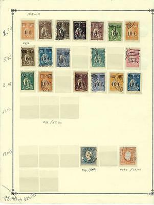 Earlier Portugal Scott Pages With Stamps - Clear Mounts - 10% Of Cat - (s53)