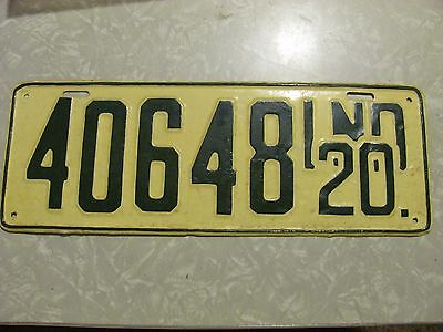 1920 INDIANA LICENSE PLATE  amateur repaint FREE SHIPPING #40648
