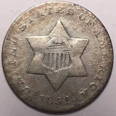 1851 3Cent Silver