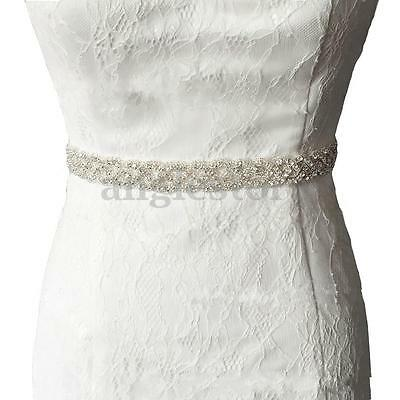 Rhinestone Bridal/Bridesmaid Wedding Waistband Waist Sash Belt Dress Ribbon