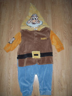 Disney Store HAPPY Dwarf COSTUME 3-6M Halloween BABY Snow White INFANT OUTFIT