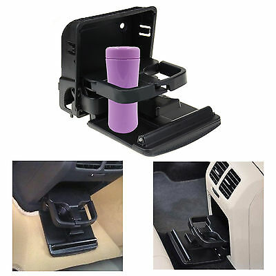 Universal Rear Cup Holder Black Save Space for VW Golf MK6 Jetta MK5 EOS