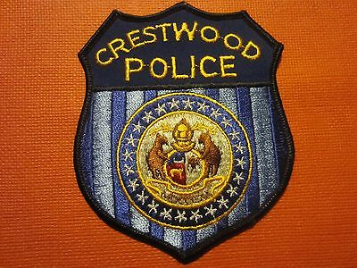 Collectible Missouri Police Patch Crestwood New