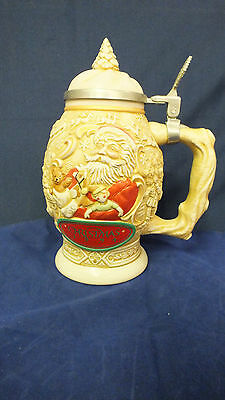 Collectable Avon Father Christmas Stein