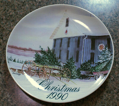 1990 Smucker Jelly Collector Christmas Plate - Artist David Coolidge