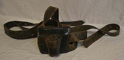 Carrier, Flag Double Harness Marching Holder Leather Army Navy Air Force Marines