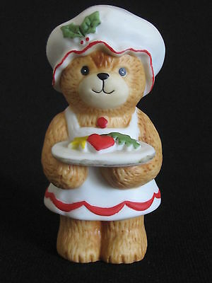 Enesco Lucy & Me Christmas Mamma Teddy Bear with Plate of Cookies