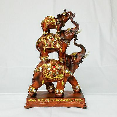 Decorative Elephant Pyramid Figurine Statue/Sculpture