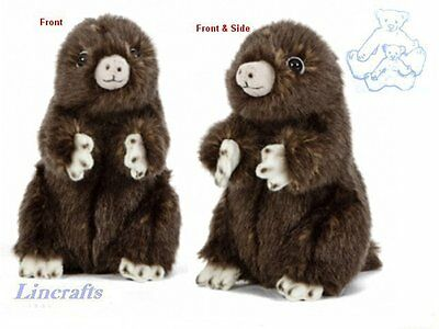 Sitting Mole  Plush Soft Toy by Living Nature.13cm AN410