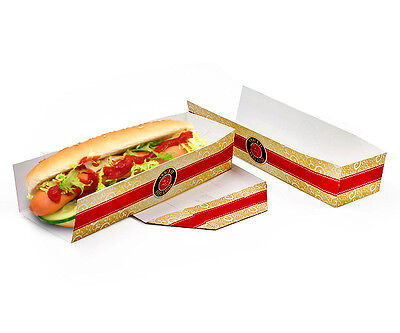 "Hot-Dog-Tray ""FEEL GOOD"" bedruckt, 500 Stück"