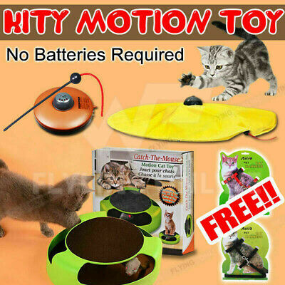 Electronic Kitten Cat Meow Toy Rotating The Mouse Chase Interactive AU
