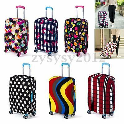 """26-28"""" Size L Travel Luggage Cover Protector Elastic Suitcase Dustproof Bag"""