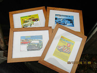 classic mini framed advert pictures rare germ items 11x9 inch four 4x world post