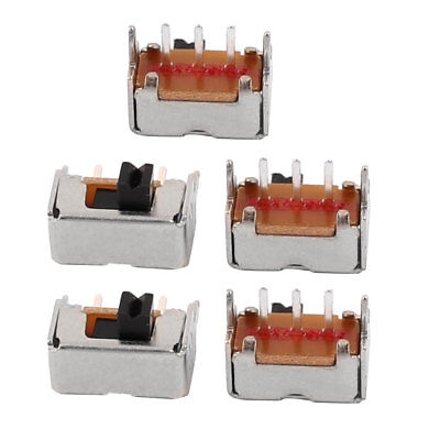 5Pcs 2 Position 3P SPDT Micro Slide Switch Latching Toy Switch 8mmx4mmx4mm