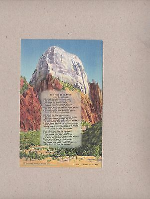 Vintage Postcard Great White Throne Zion National Park Utah