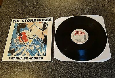 """STONE ROSES I wanna be adored 1st issue 12"""" 1301-1-JD translucent vinyl VG+/VG+"""