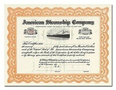 American Steamship Company Stock Certificate