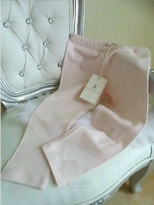 BNWT Gucci Baby Girl Pastel Pink Bow Back Leggings Pants Trousers 36 Month 3 Yr