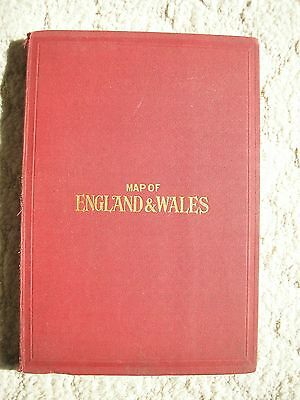 Antique Map of England and Wales circa 1920