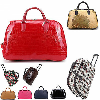 LeahWard® Women's Small Size Holdall Luggage Travel Bag With Wheel Hand Luggage