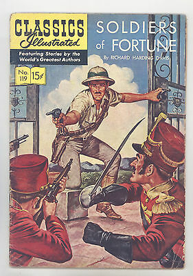 Classics Illustrated #119 HRN 120(Orig) VGFN Schaffenberger Soldiers of Fortune