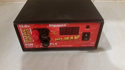 ProPeak Power Supply 20A Twin Output 13.8v DC Ripmax