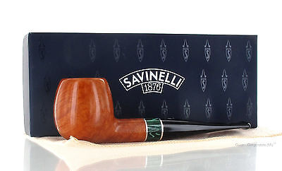 Savinelli Pipe - IMPERO 207 Smooth Clear Natural Briar Apple 9mm