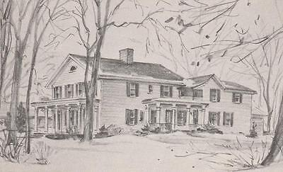 Home of Daniel Penfield - Penfield NY, New York - Porter Pencil Sketch