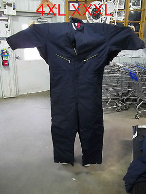 New XXXXL 4XL UNISEX Insulated Navy Blue Twill  Work Shop Coveralls CT30NV6