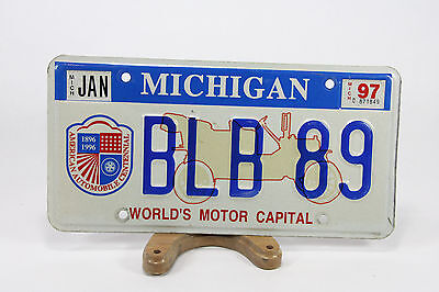 1996 Centennial  State of Michigan License Plates With '97 Stickers BLB-89