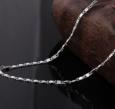 """1.5mm Snail chain Sterling Silver 925 stamped Link chain necklace pendant 16-30"""""""