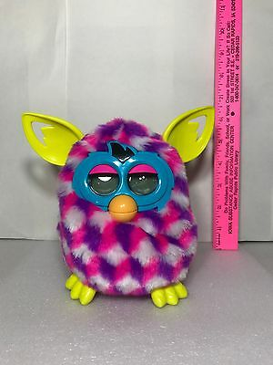 Adorable Hasbro Furby Boom Pink Purple White Talking Electronic Toy