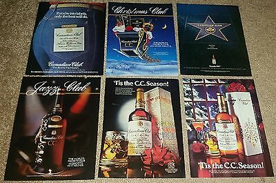 Large Lot of 40 Canadian Club CC Whisky Alcohol Vintage Print Ads 1950s to 1990s