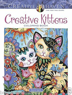 Creative Kittens Cats Feline Adult Colouring Book Creative Pussy Kitty Animals