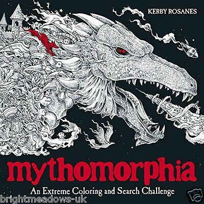 Mythomorphia Adult Colouring Book Creative Art Therapy Dragons Fantasy Monsters
