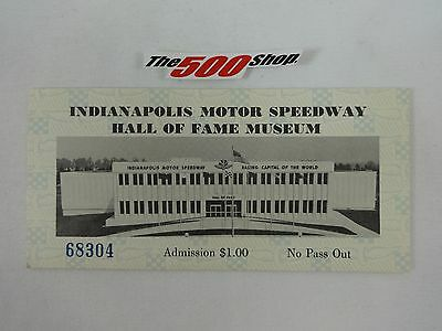 1980's Indianapolis Motor Speedway Hall Of Fame Museum Tickets #68304