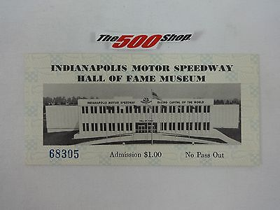 1980's Indianapolis Motor Speedway Hall Of Fame Museum Tickets #68305