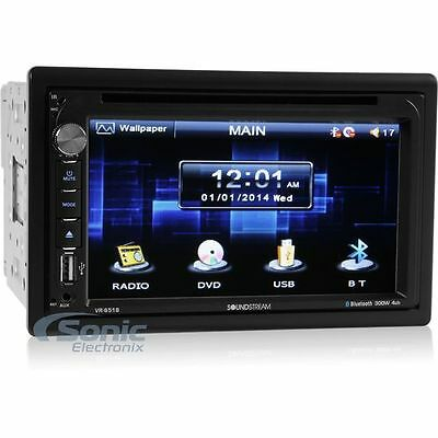 "Soundstream VR-651B Double DIN Bluetoooth DVD Car Stereo w/ 6.5"" Screen"