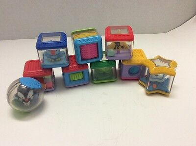 Peek a Blocks By Fisher Price Sensory Baby infant Toys