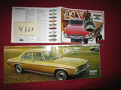 N°4327 /  catalogue HOLDEN gamme  february 1972