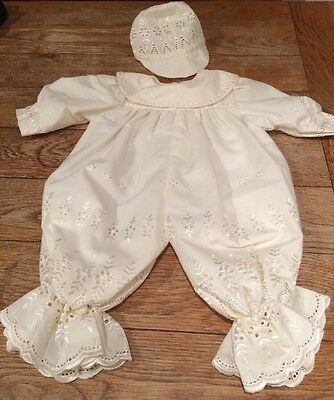 Vintage Baby Boy's Christening Outfit 0-6 Months