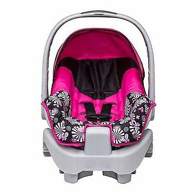 Evenflo Nurture Infant Car Seat Pink Rear Facing Baby Newborns Adjustable NEW