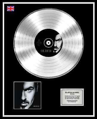 GEORGE MICHAEL Ltd Edition CD Platinum Disc Record OLDER