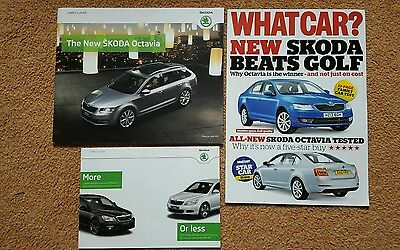 2103 Skoda Octavia UK Sales Brochure & WhatCar Roadtest publication £1.25