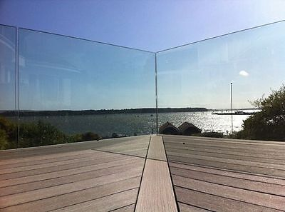 Frameless Glass panel balustrade 1200 x 950 x12mm Clear toughened glass for pool