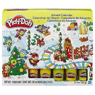 New PLAY-DOH ADVENT CALENDAR with 24 SURPRISES! 5 CANS playdoh colors INCLUDED