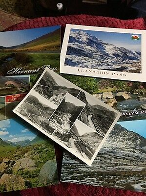 7 Postcards Of THE PASSES OF NORTH WALES.