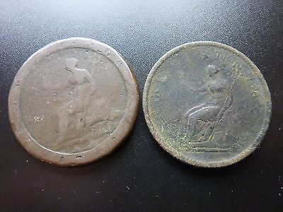 Job Lot 'Two Old Penny Coins' One A Cartwheel