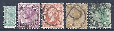VICTORIA 1901 Without Postage SG376-380 USED