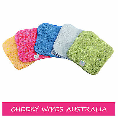 10 x Terry Cotton Baby Wipes Rainbow Colours - Perfect for Nappy Changes